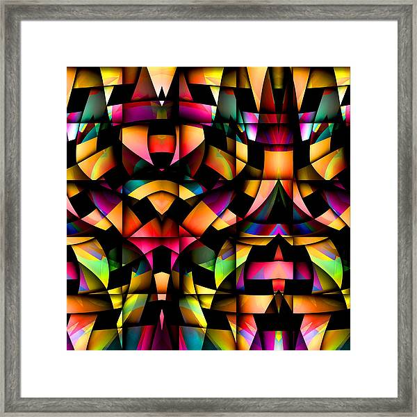 Framed Print featuring the digital art Twisted by Visual Artist Frank Bonilla