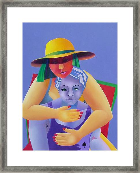 Two In A Chair Framed Print
