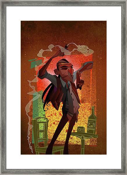 Un Hombre Framed Print