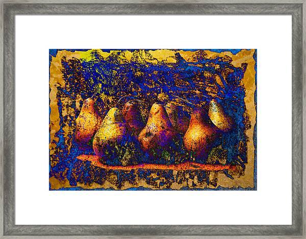 Unborn Pears Framed Print