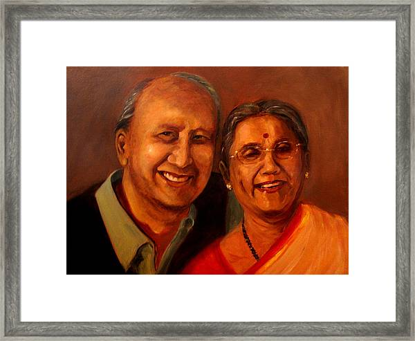 Uncle And Aunt Framed Print