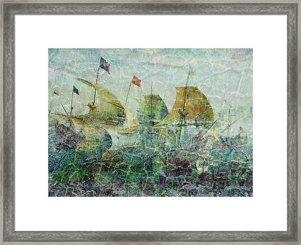 Under Full Sail Two Framed Print