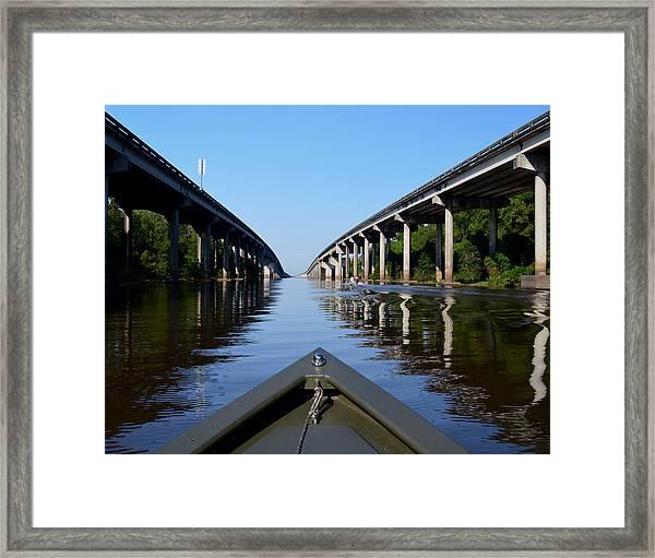 Under The Interstate Framed Print