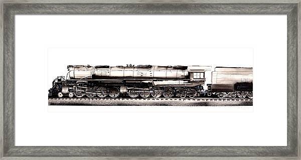 Union Pacific 4-8-8-4 Steam Engine Big Boy 4005 Framed Print
