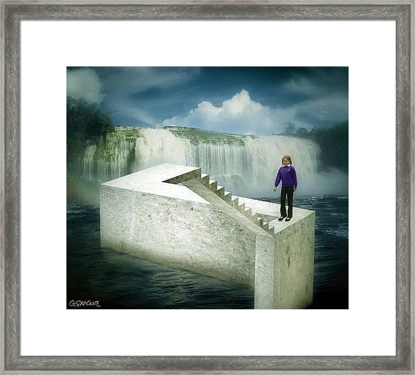 Unstair Framed Print