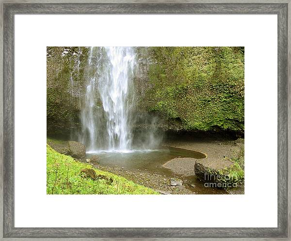 Upper Cascade Pool Multnomah Falls Or Framed Print