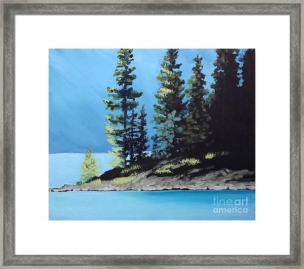 Upper Kananaskis Lake Framed Print