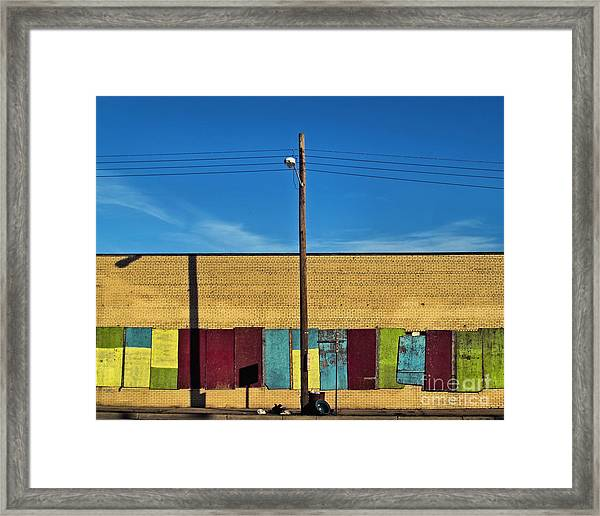 Urban Rainbow Framed Print