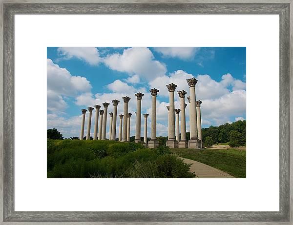 Us Capitol Columns Framed Print