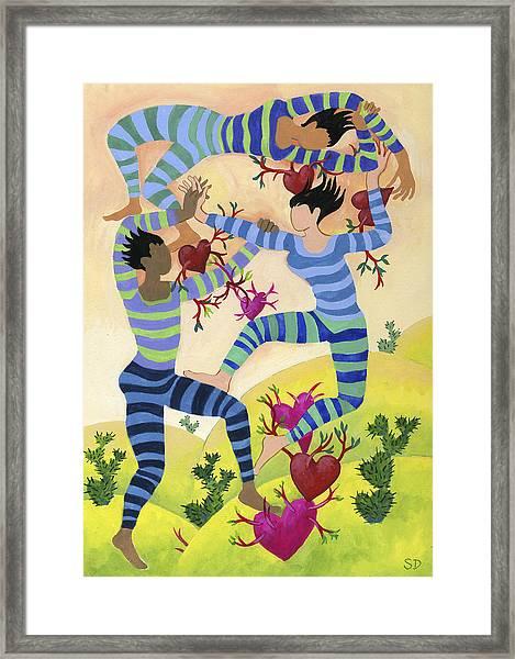 Valentine Dancers Framed Print