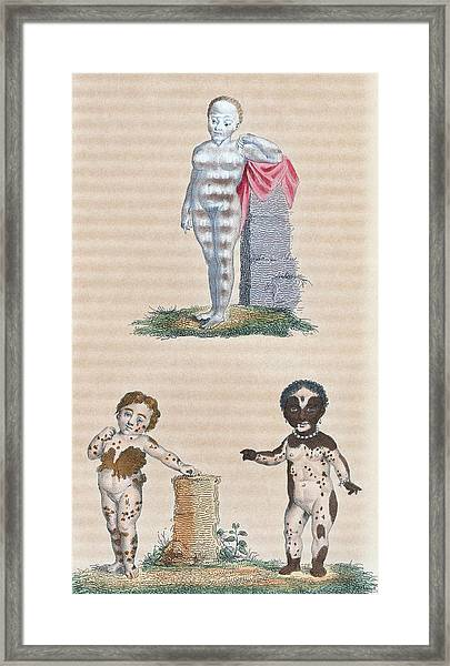 Varieties In The Human Species, Artwork Framed Print by General Research Division New York Public Library