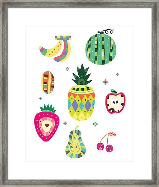 Various Kinds Of Fruit Framed Print