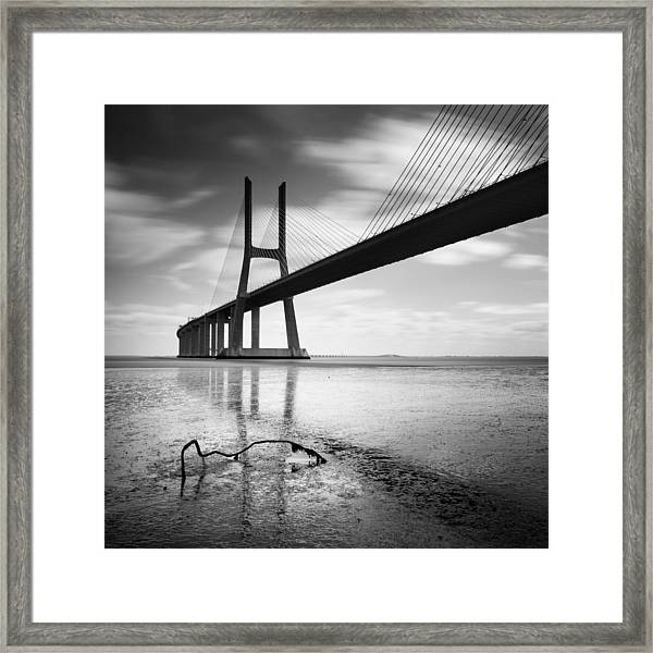 Vasco Da Gama Bridge I Framed Print