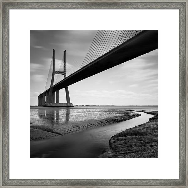 Vasco Da Gama Bridge Iv Framed Print