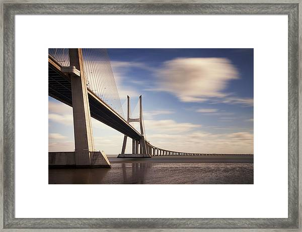 Vasco Da Gama Bridge V Framed Print