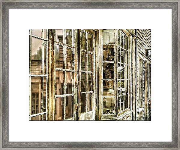 Vc Window Reflection Framed Print