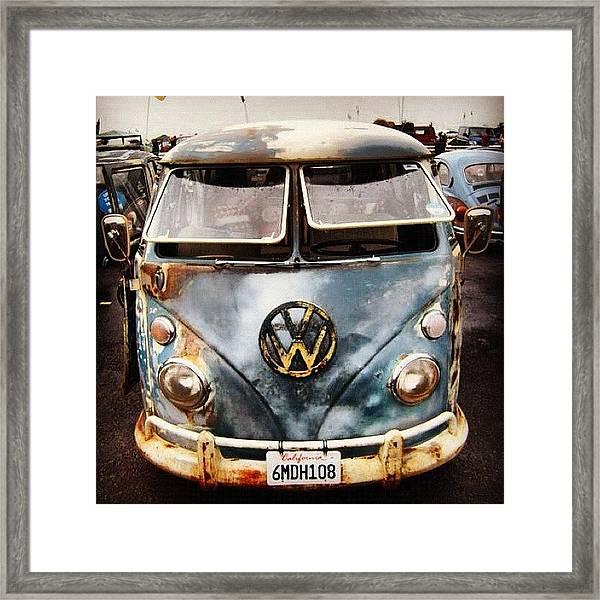 #vdub #vwbus #vwlove #vw #volkswagen Framed Print