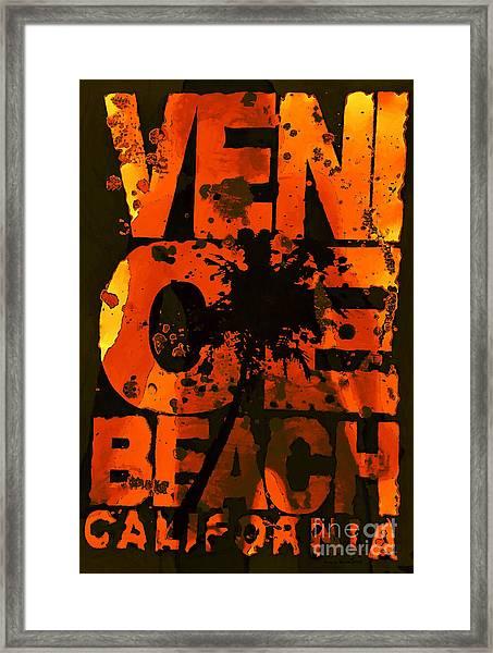 Venice Rocks Framed Print