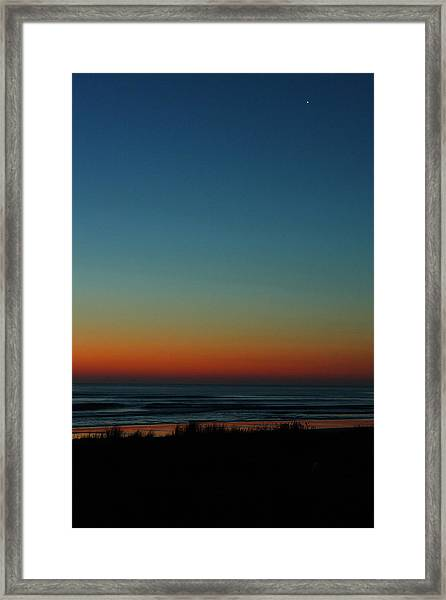 Venus And Atlantic Before Sunrise Framed Print