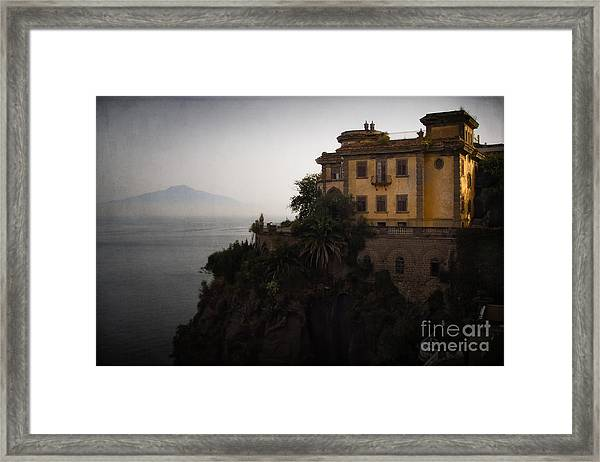 Vesuvius From Sorrento Framed Print