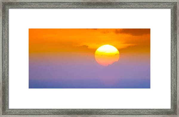 Vibrant Sunset Framed Print