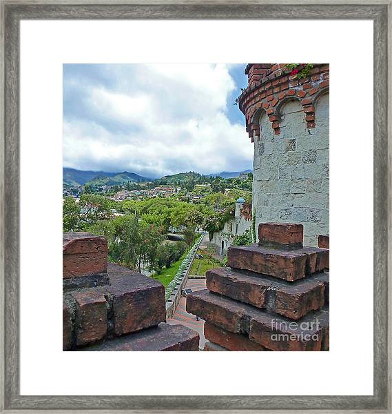 View From The City Walls - Loja - Ecuador Framed Print