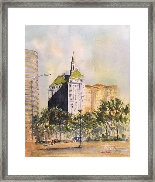 Villa Riviera  Framed Print