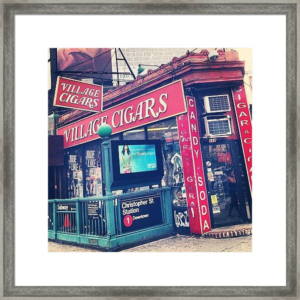 Village Cigars Framed Print