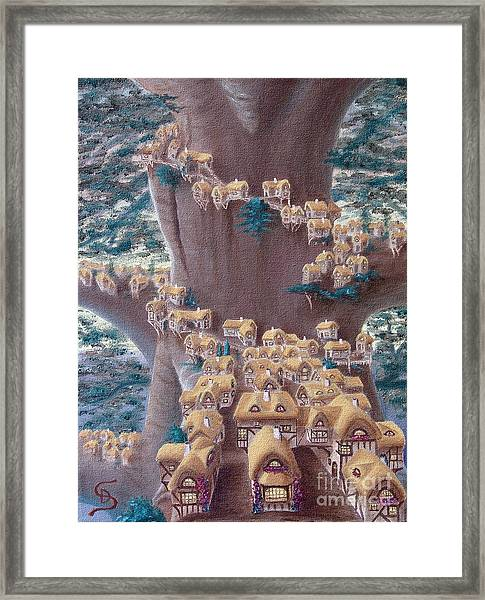 Village In A Tree From Arboregal Framed Print