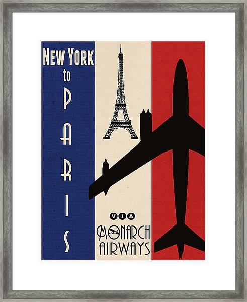 Vintage Air Travel Paris Framed Print
