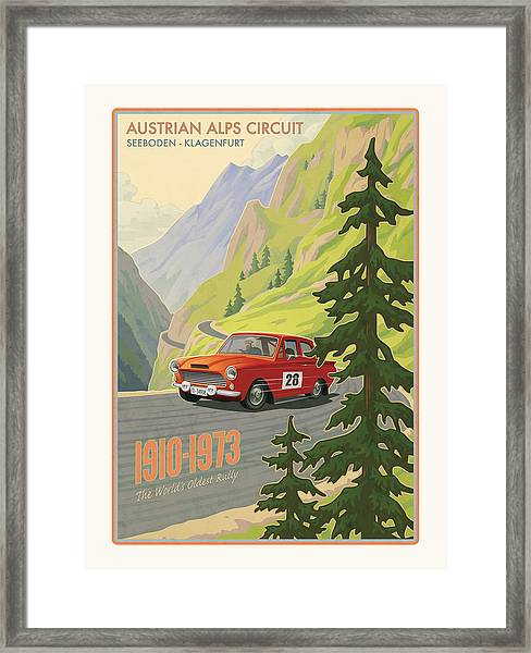 Vintage Austrian Rally Poster Framed Print