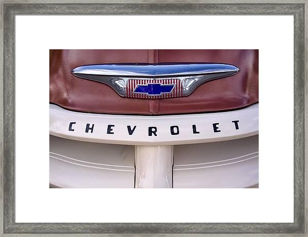 Vintage Chevy Truck Framed Print