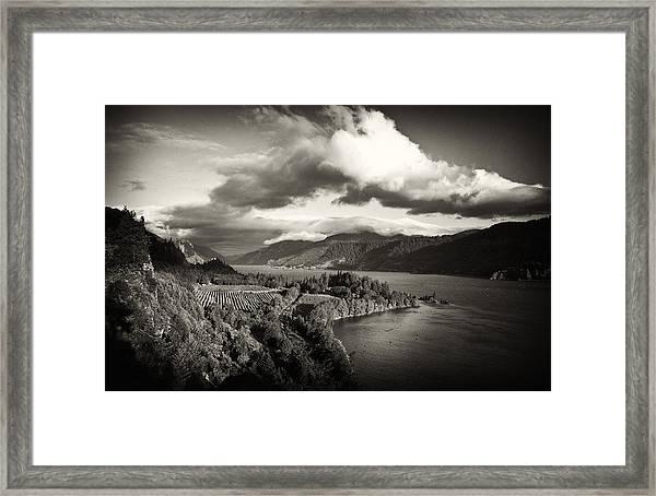 Vintage Columbia River Framed Print