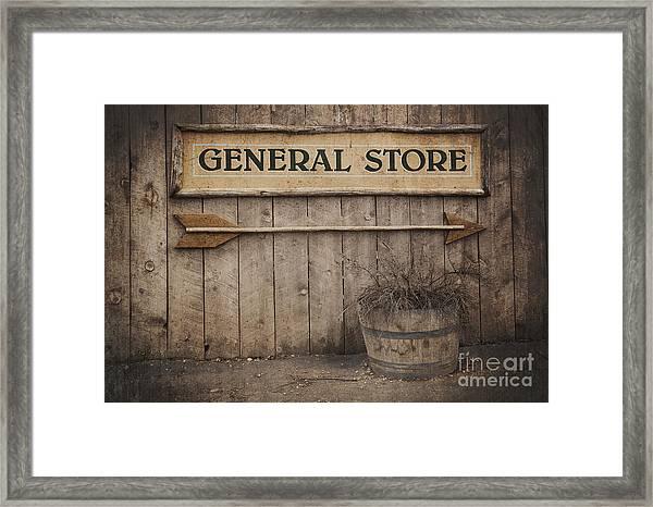 Vintage Sign General Store Framed Print