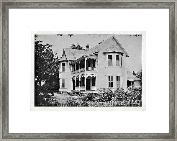 Vintage Victorian House Framed Print