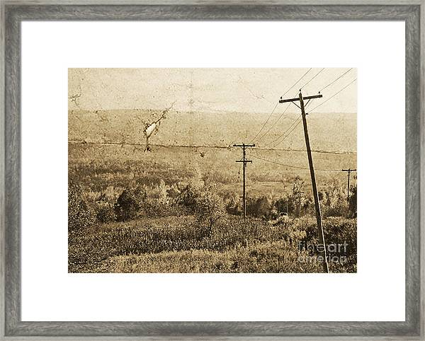 Vintage View Of Ontario Fields Framed Print