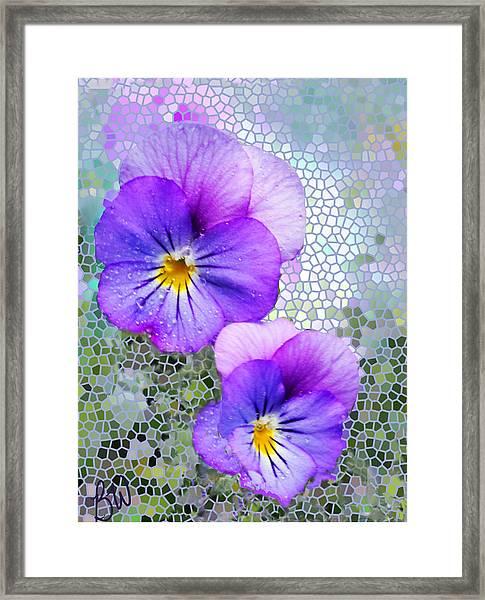 Viola On Glass Framed Print