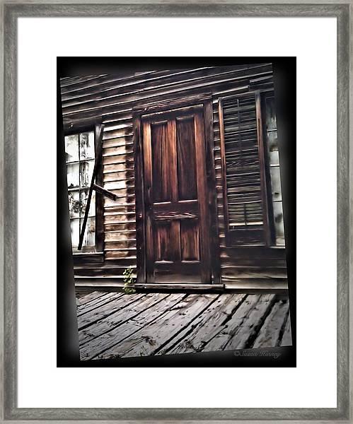 Virginia City Ghost Town Door I Framed Print