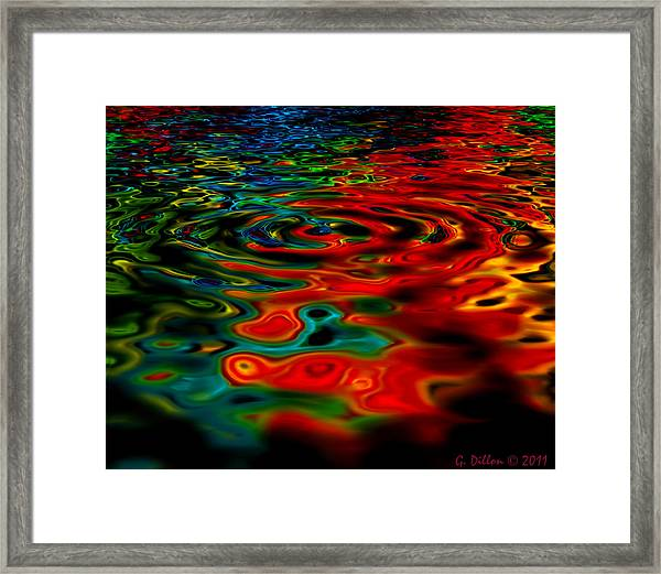 Vivid Swirl Framed Print