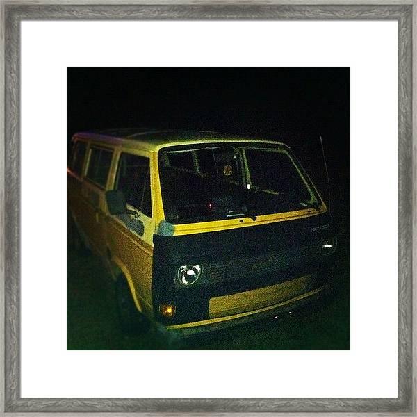 #vw #vanagon #bus #van #wagon #old Framed Print