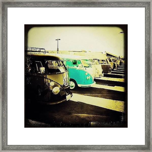 #vw #volkswagon #bus #buses Framed Print