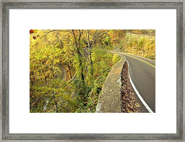 W Road In Autumn Framed Print