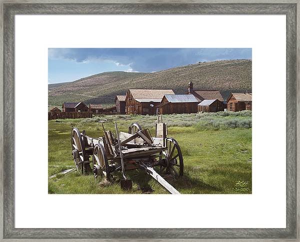 Wagon And Shovel Framed Print