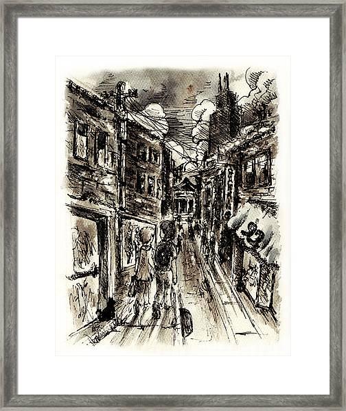 Walkin In The City Framed Print