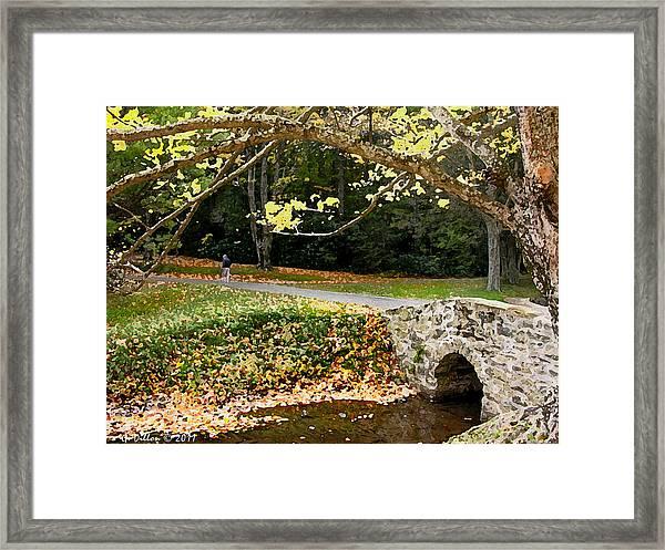 Walking In The Brisk Autumn Air Framed Print