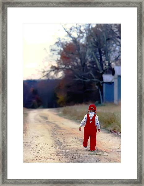 Walking On Pawpaw's Road Framed Print