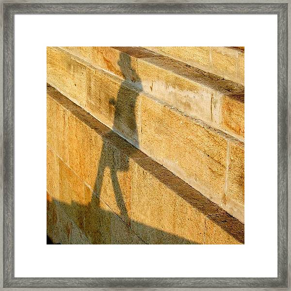 Walking On Sunshine #italy #genoa Framed Print