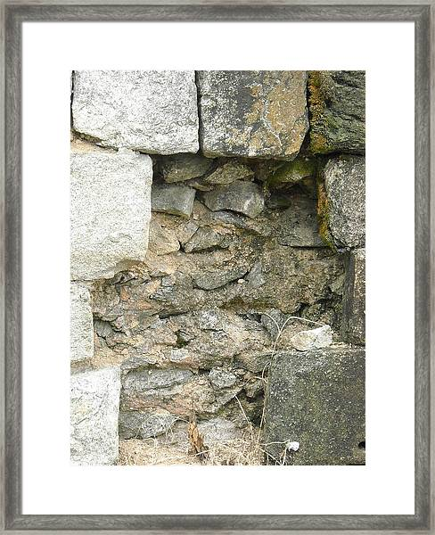 Wall Behind The Wall Framed Print
