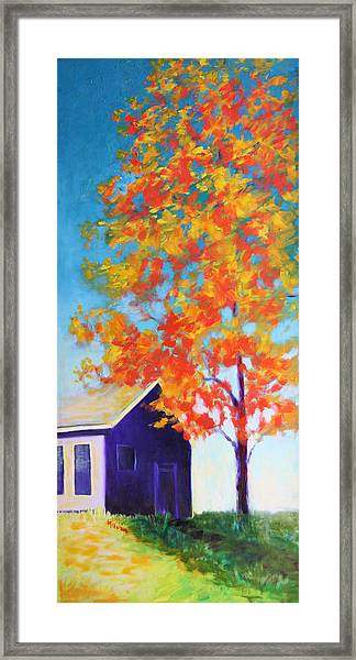 Warm Day In Fall Framed Print