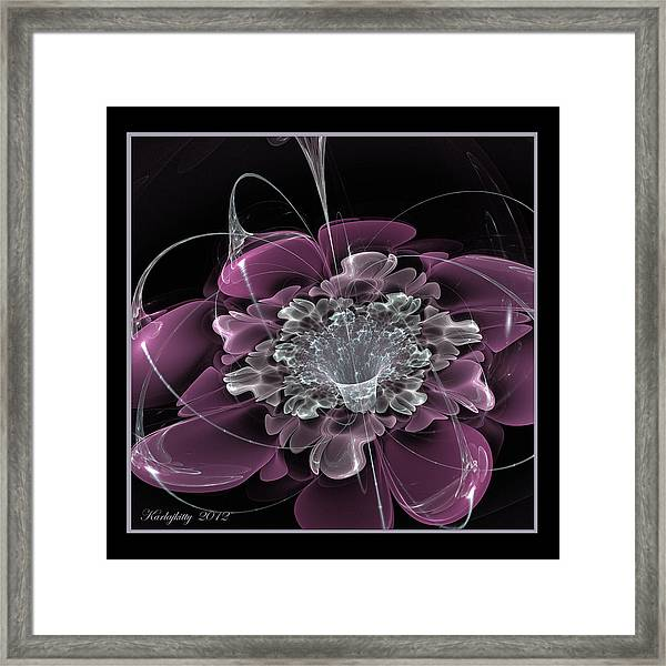 Water Kissed Framed Print